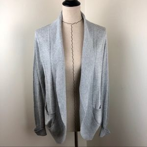 UO Silence + Noise Grey Open Front Cardigan L